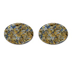 Antique Anciently Gold Blue Vintage Design Cufflinks (oval)