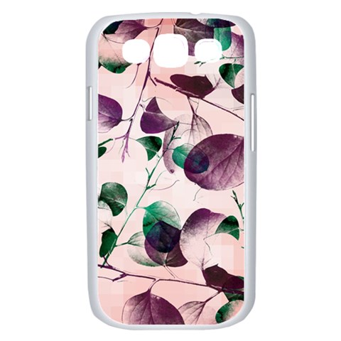 Spiral Eucalyptus Leaves Samsung Galaxy S III Case (White)