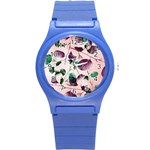 Spiral Eucalyptus Leaves Round Plastic Sport Watch (S) Front