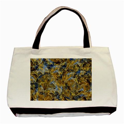 Antique Anciently Gold Blue Vintage Design Basic Tote Bag