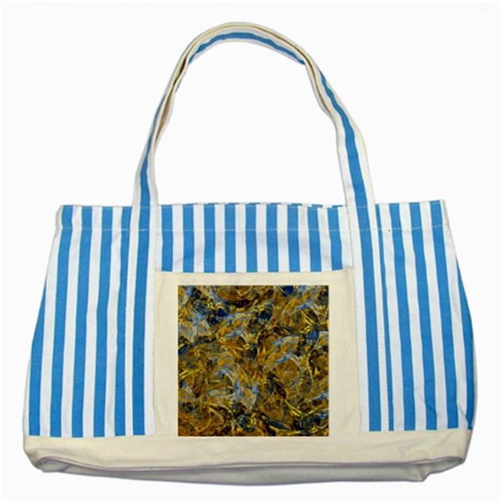 Antique Anciently Gold Blue Vintage Design Striped Blue Tote Bag