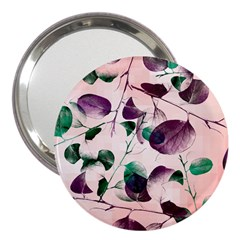 Spiral Eucalyptus Leaves 3  Handbag Mirrors