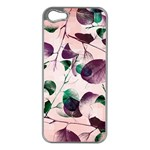 Spiral Eucalyptus Leaves Apple iPhone 5 Case (Silver) Front
