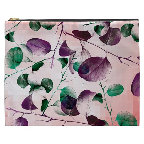 Spiral Eucalyptus Leaves Cosmetic Bag (XXXL)