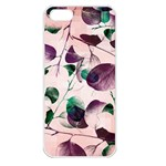 Spiral Eucalyptus Leaves Apple iPhone 5 Seamless Case (White) Front