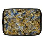 Antique Anciently Gold Blue Vintage Design Netbook Case (Medium)  Front