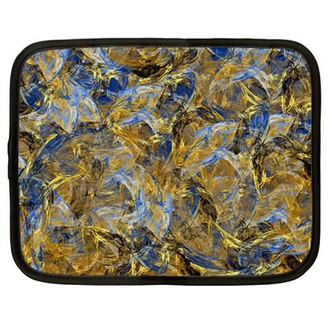 Antique Anciently Gold Blue Vintage Design Netbook Case (Large)
