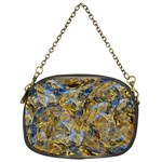 Antique Anciently Gold Blue Vintage Design Chain Purses (One Side)  Front