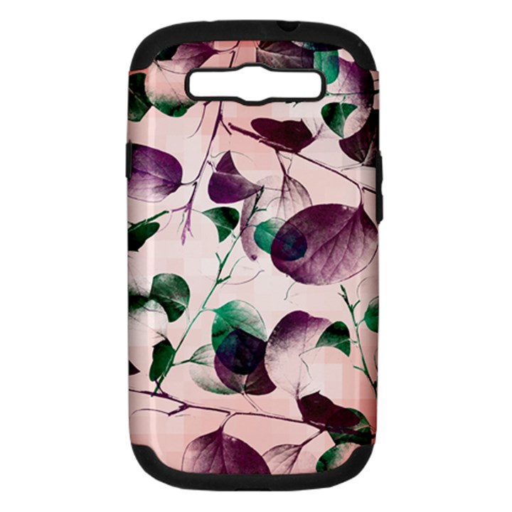 Spiral Eucalyptus Leaves Samsung Galaxy S III Hardshell Case (PC+Silicone)