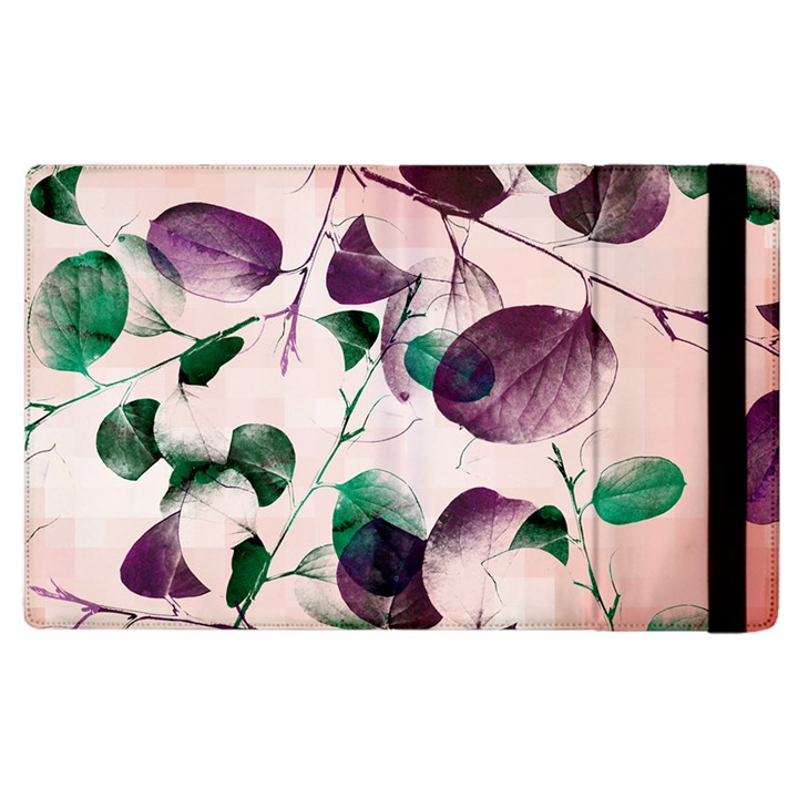 Spiral Eucalyptus Leaves Apple iPad 2 Flip Case