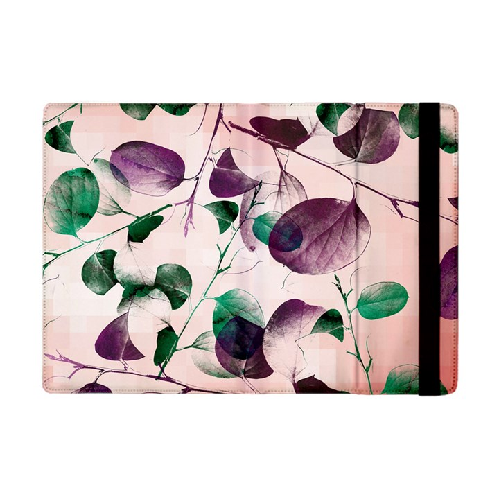 Spiral Eucalyptus Leaves Apple iPad Mini Flip Case
