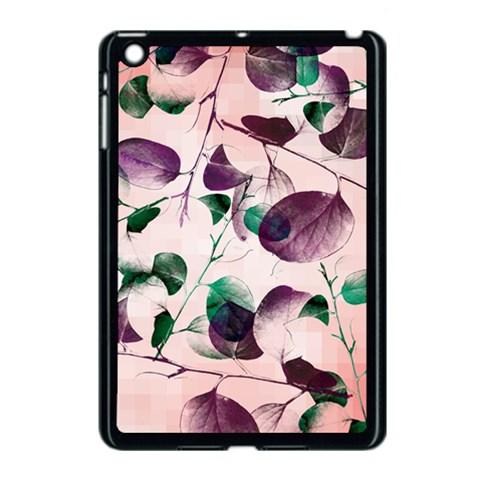 Spiral Eucalyptus Leaves Apple iPad Mini Case (Black)