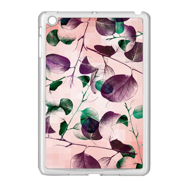 Spiral Eucalyptus Leaves Apple iPad Mini Case (White)