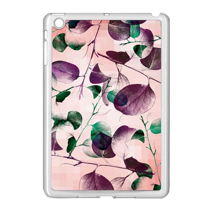 Spiral Eucalyptus Leaves Apple iPad Mini Case (White)