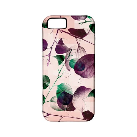 Spiral Eucalyptus Leaves Apple iPhone 5 Classic Hardshell Case (PC+Silicone)