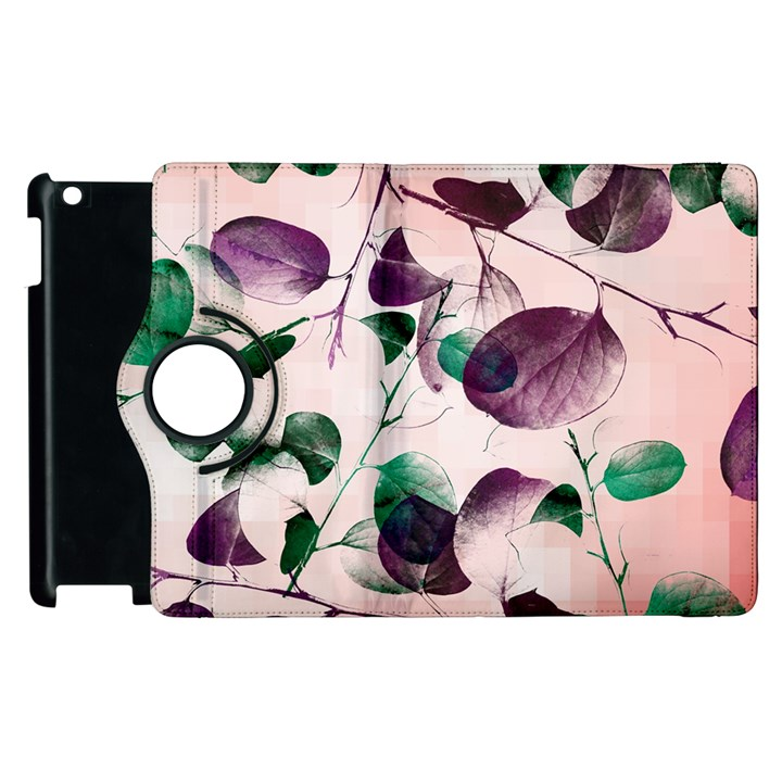 Spiral Eucalyptus Leaves Apple iPad 2 Flip 360 Case