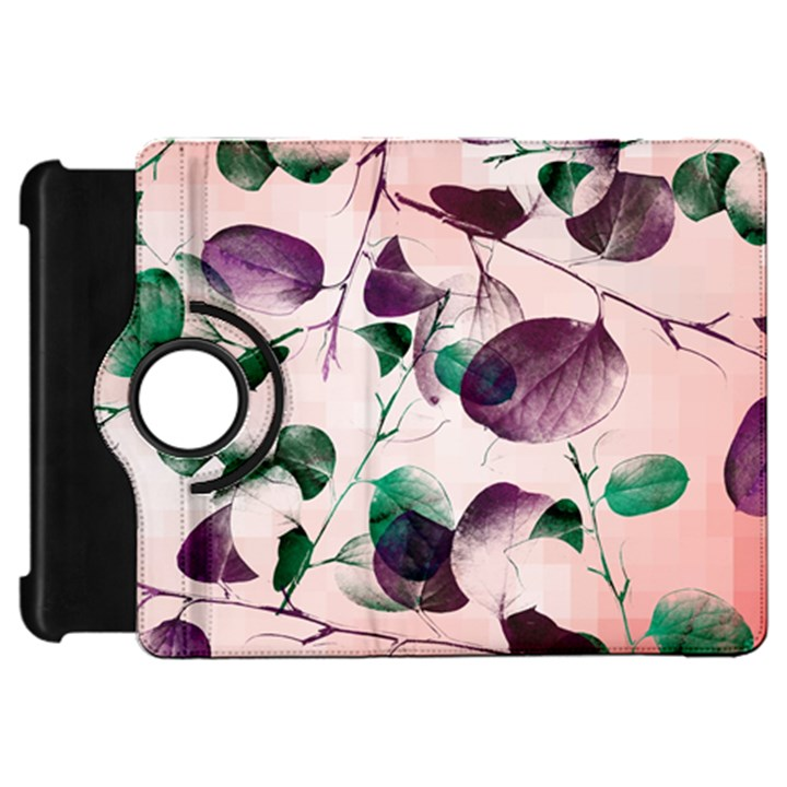 Spiral Eucalyptus Leaves Kindle Fire HD Flip 360 Case