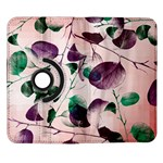 Spiral Eucalyptus Leaves Samsung Galaxy Note II Flip 360 Case Front
