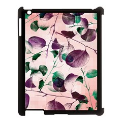 Spiral Eucalyptus Leaves Apple iPad 3/4 Case (Black)