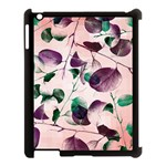 Spiral Eucalyptus Leaves Apple iPad 3/4 Case (Black) Front