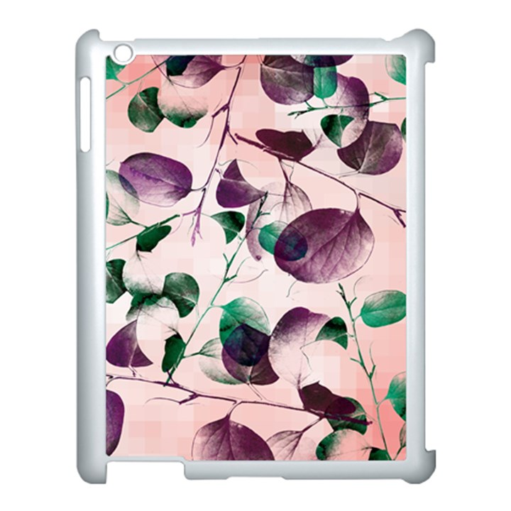 Spiral Eucalyptus Leaves Apple iPad 3/4 Case (White)