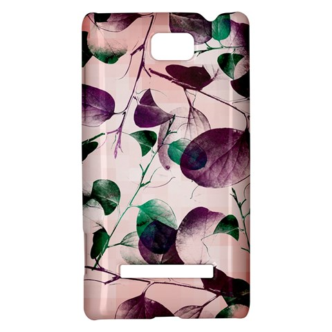 Spiral Eucalyptus Leaves HTC 8S Hardshell Case