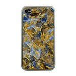 Antique Anciently Gold Blue Vintage Design Apple iPhone 4 Case (Clear) Front