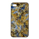 Antique Anciently Gold Blue Vintage Design Apple iPhone 4/4s Seamless Case (Black) Front