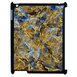 Antique Anciently Gold Blue Vintage Design Apple iPad 2 Case (Black) Front