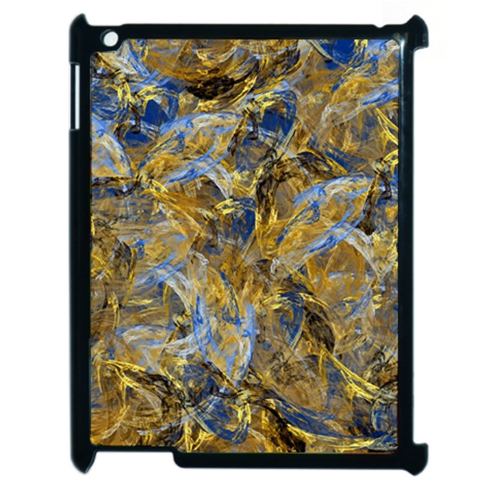 Antique Anciently Gold Blue Vintage Design Apple iPad 2 Case (Black)