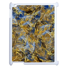 Antique Anciently Gold Blue Vintage Design Apple iPad 2 Case (White)