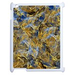 Antique Anciently Gold Blue Vintage Design Apple iPad 2 Case (White) Front