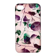 Spiral Eucalyptus Leaves Apple iPhone 4/4S Hardshell Case with Stand