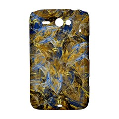 Antique Anciently Gold Blue Vintage Design HTC ChaCha / HTC Status Hardshell Case