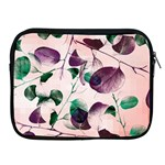 Spiral Eucalyptus Leaves Apple iPad 2/3/4 Zipper Cases Front
