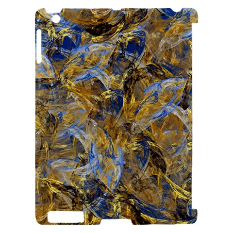 Antique Anciently Gold Blue Vintage Design Apple iPad 2 Hardshell Case (Compatible with Smart Cover)