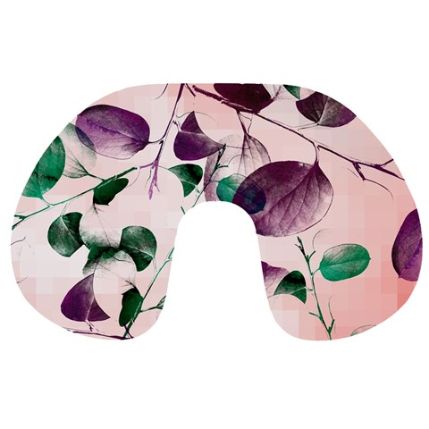 Spiral Eucalyptus Leaves Travel Neck Pillows