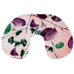 Spiral Eucalyptus Leaves Travel Neck Pillows Back