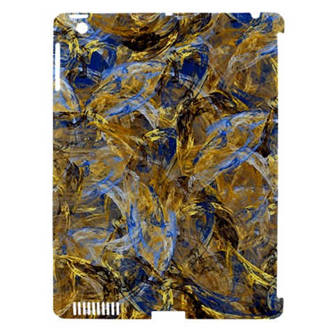 Antique Anciently Gold Blue Vintage Design Apple iPad 3/4 Hardshell Case (Compatible with Smart Cover)