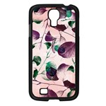 Spiral Eucalyptus Leaves Samsung Galaxy S4 I9500/ I9505 Case (Black) Front