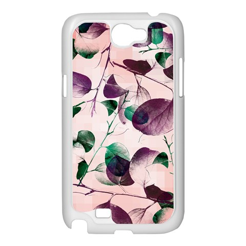 Spiral Eucalyptus Leaves Samsung Galaxy Note 2 Case (White)