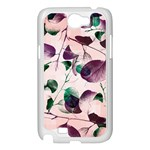 Spiral Eucalyptus Leaves Samsung Galaxy Note 2 Case (White) Front