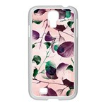 Spiral Eucalyptus Leaves Samsung GALAXY S4 I9500/ I9505 Case (White) Front