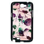 Spiral Eucalyptus Leaves Samsung Galaxy Note 2 Case (Black) Front