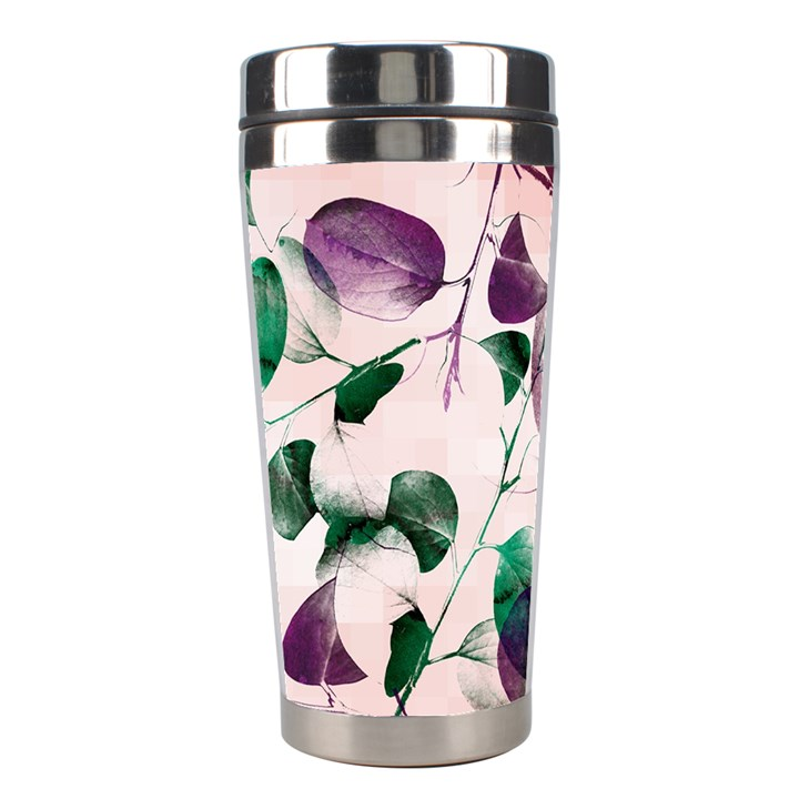 Spiral Eucalyptus Leaves Stainless Steel Travel Tumblers