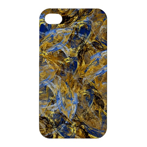 Antique Anciently Gold Blue Vintage Design Apple iPhone 4/4S Premium Hardshell Case