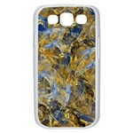 Antique Anciently Gold Blue Vintage Design Samsung Galaxy S III Case (White) Front