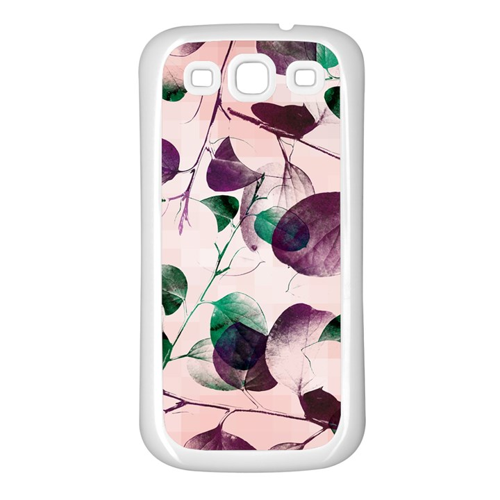 Spiral Eucalyptus Leaves Samsung Galaxy S3 Back Case (White)