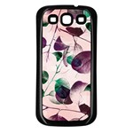 Spiral Eucalyptus Leaves Samsung Galaxy S3 Back Case (Black) Front
