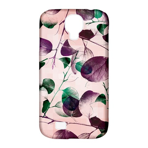 Spiral Eucalyptus Leaves Samsung Galaxy S4 Classic Hardshell Case (PC+Silicone)
